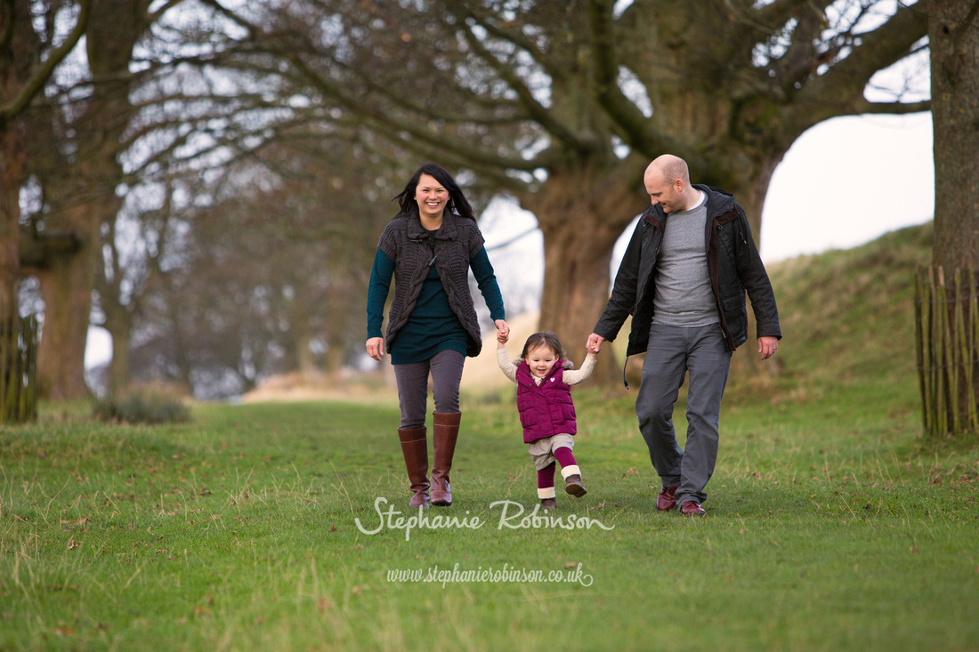 Family in Lyme Park